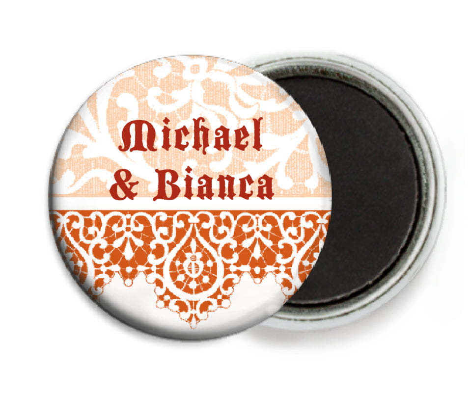 custom button magnets - spice - lace (set of 6)