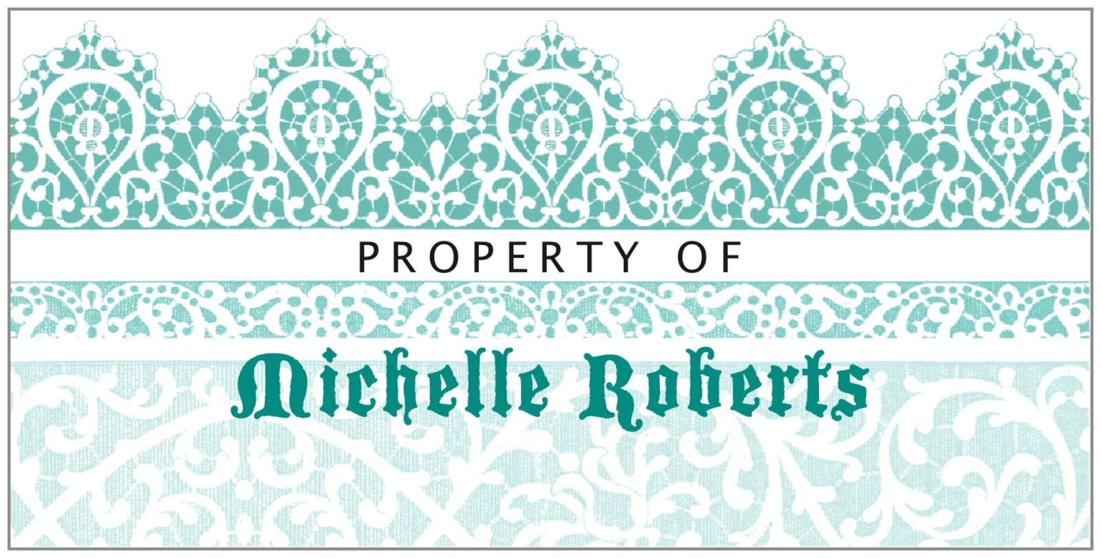 bookplates for everyone - aruba - lace (set of 24)