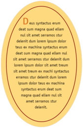 Library oval text labels