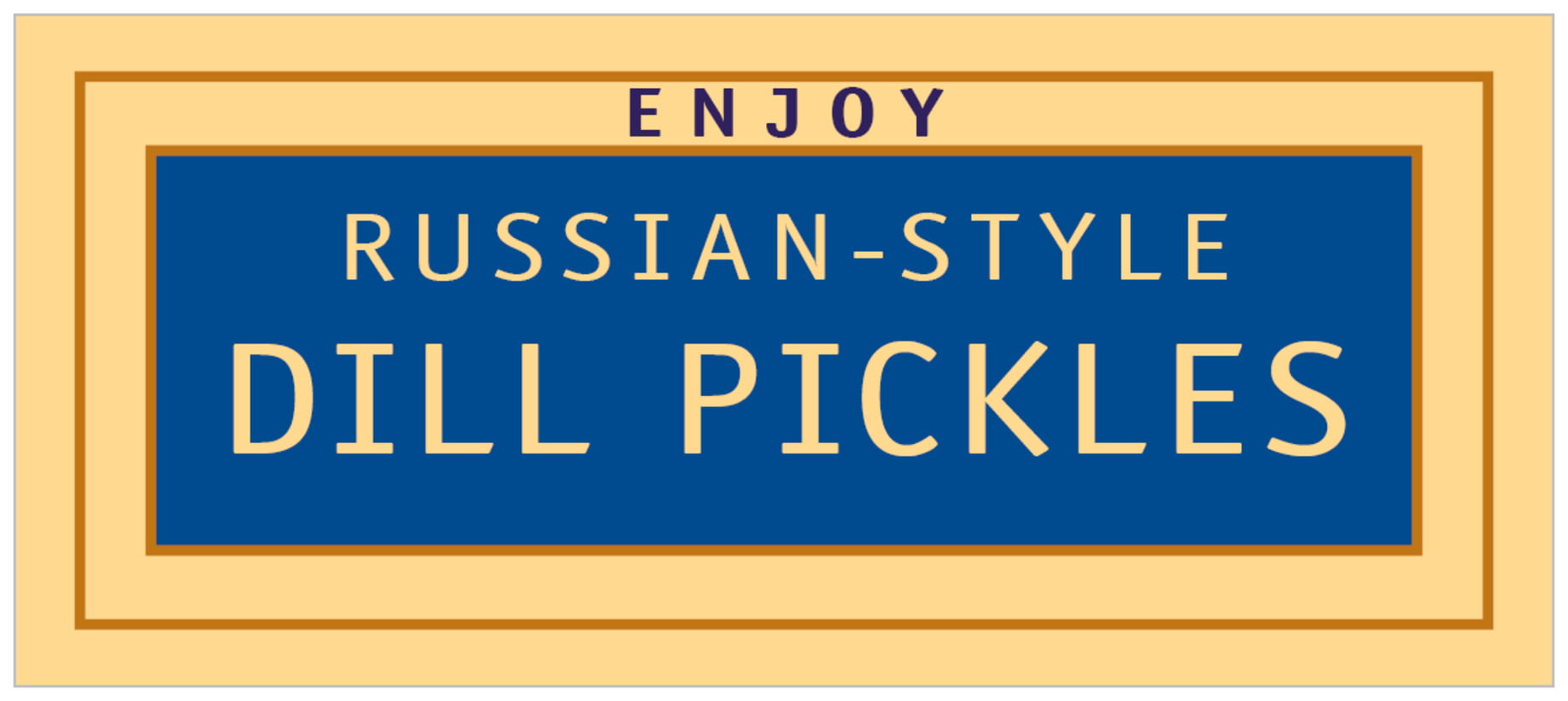 small rectangle food/craft labels - blue - library (set of 24)