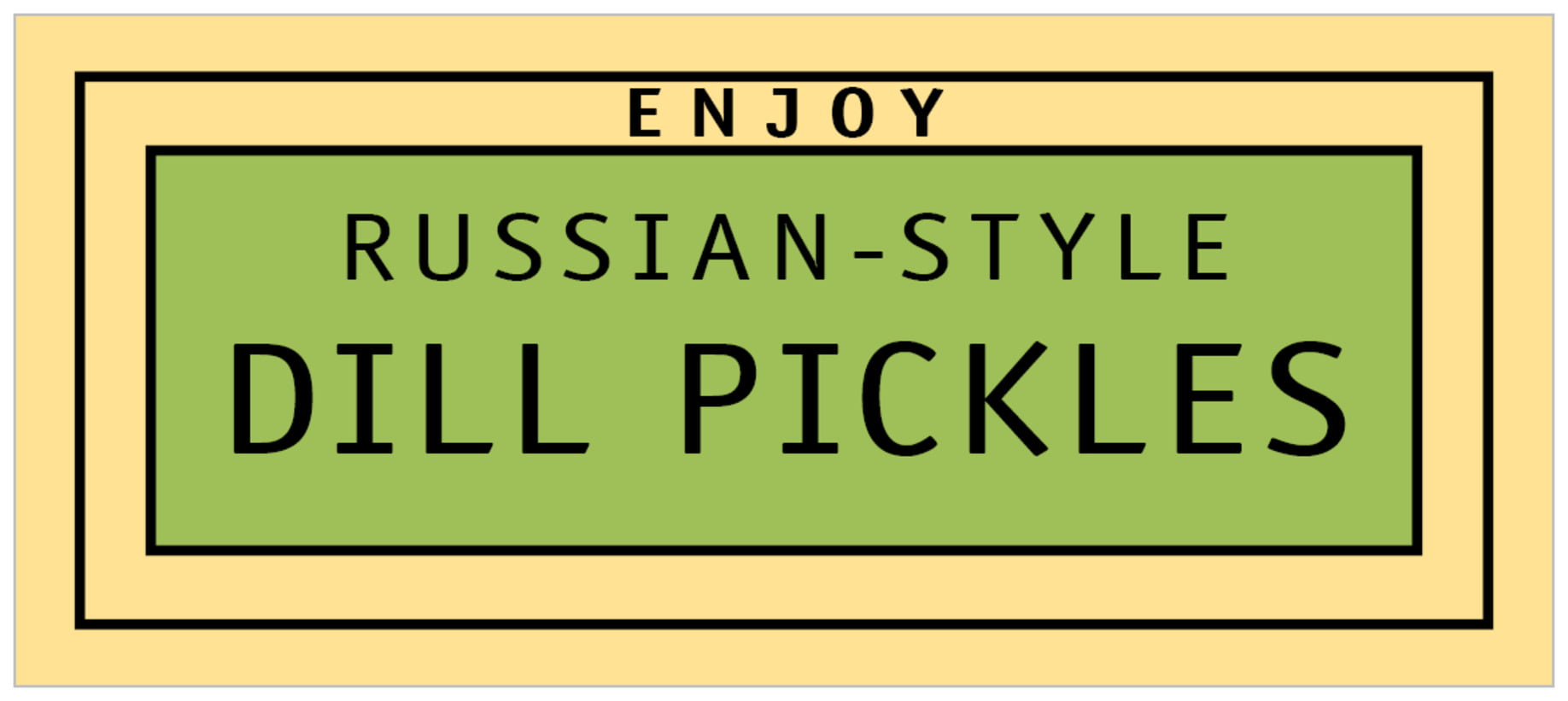 small rectangle food/craft labels - lime & gold - library (set of 24)