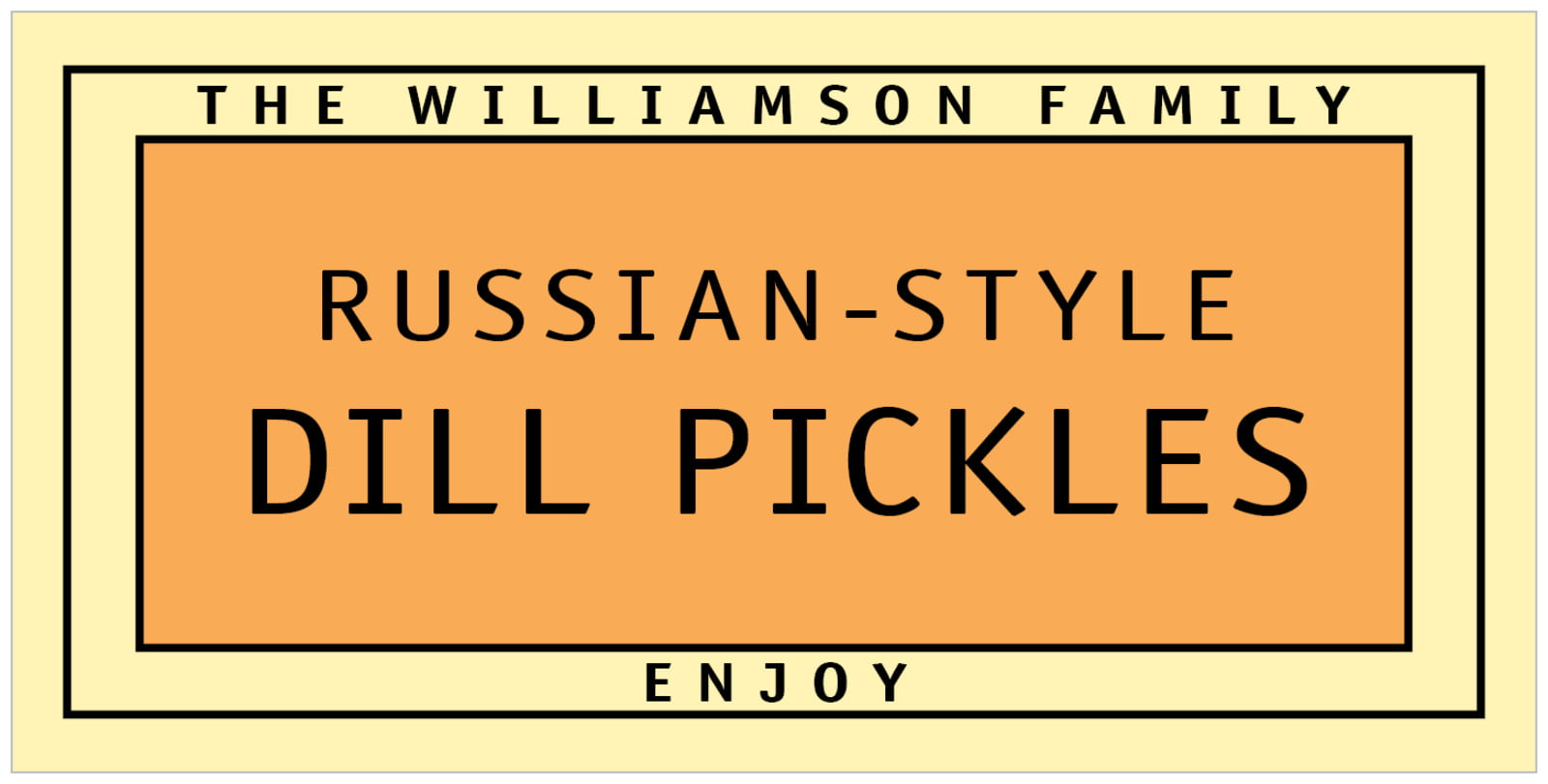 small rectangular food/craft labels - melon - library (set of 24)