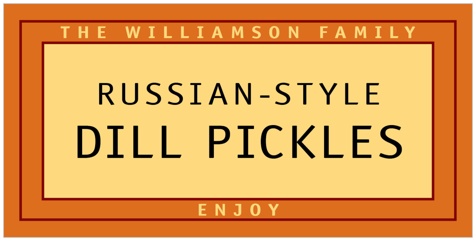 small rectangular food/craft labels - spice - library (set of 24)