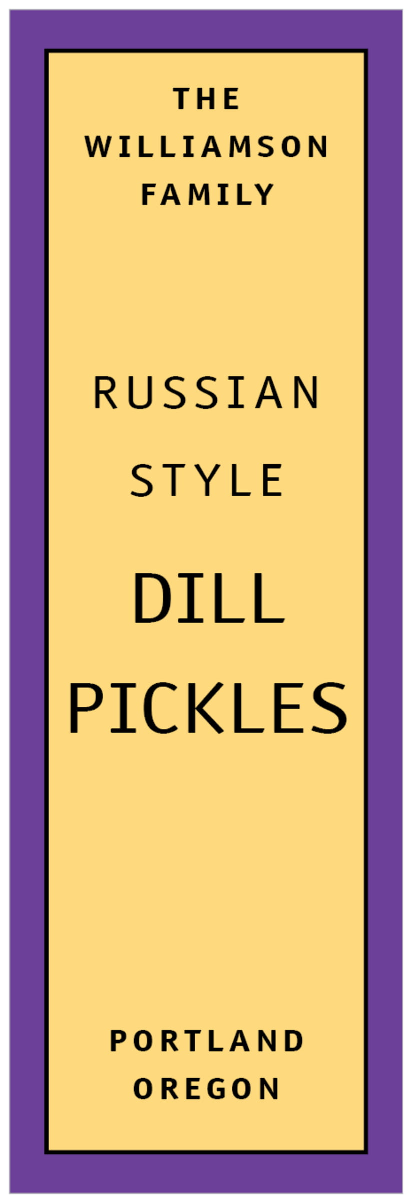 tall food/craft labels - purple - library (set of 14)