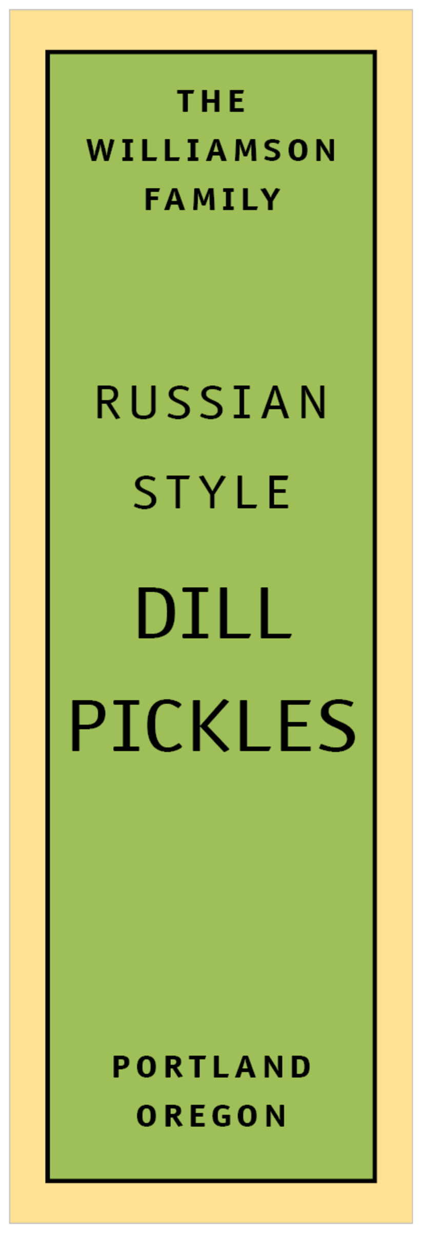 tall food/craft labels - lime & gold - library (set of 14)