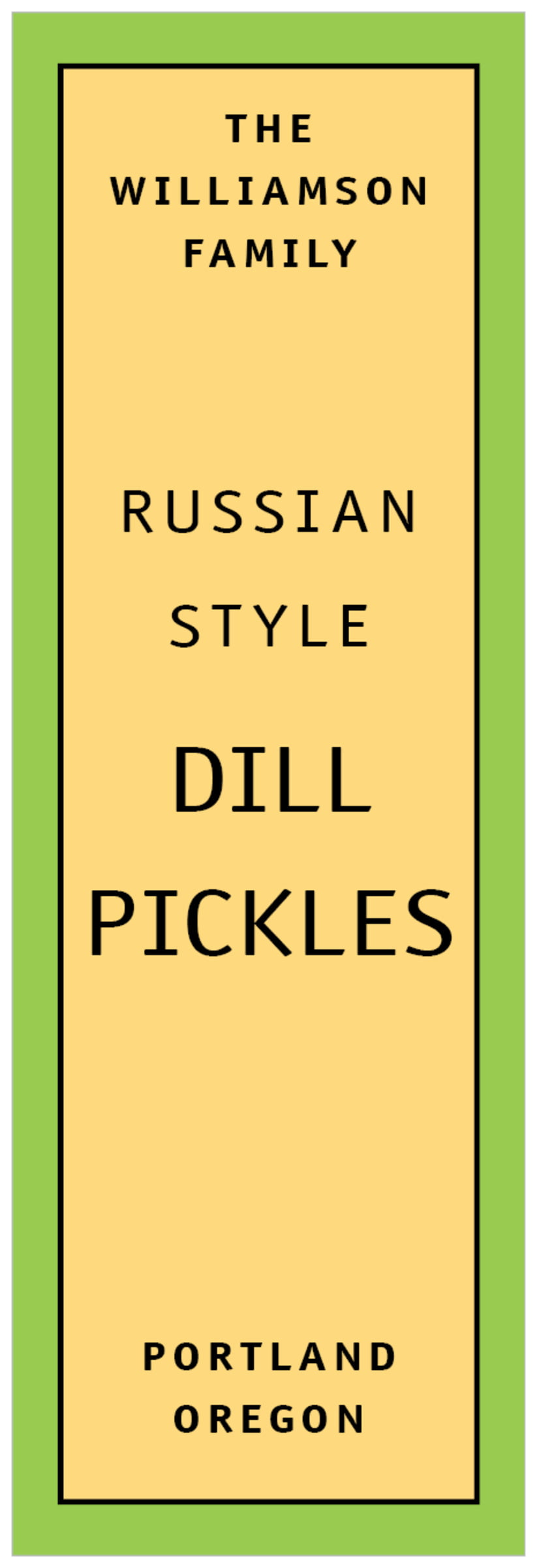 tall food/craft labels - lime - library (set of 14)