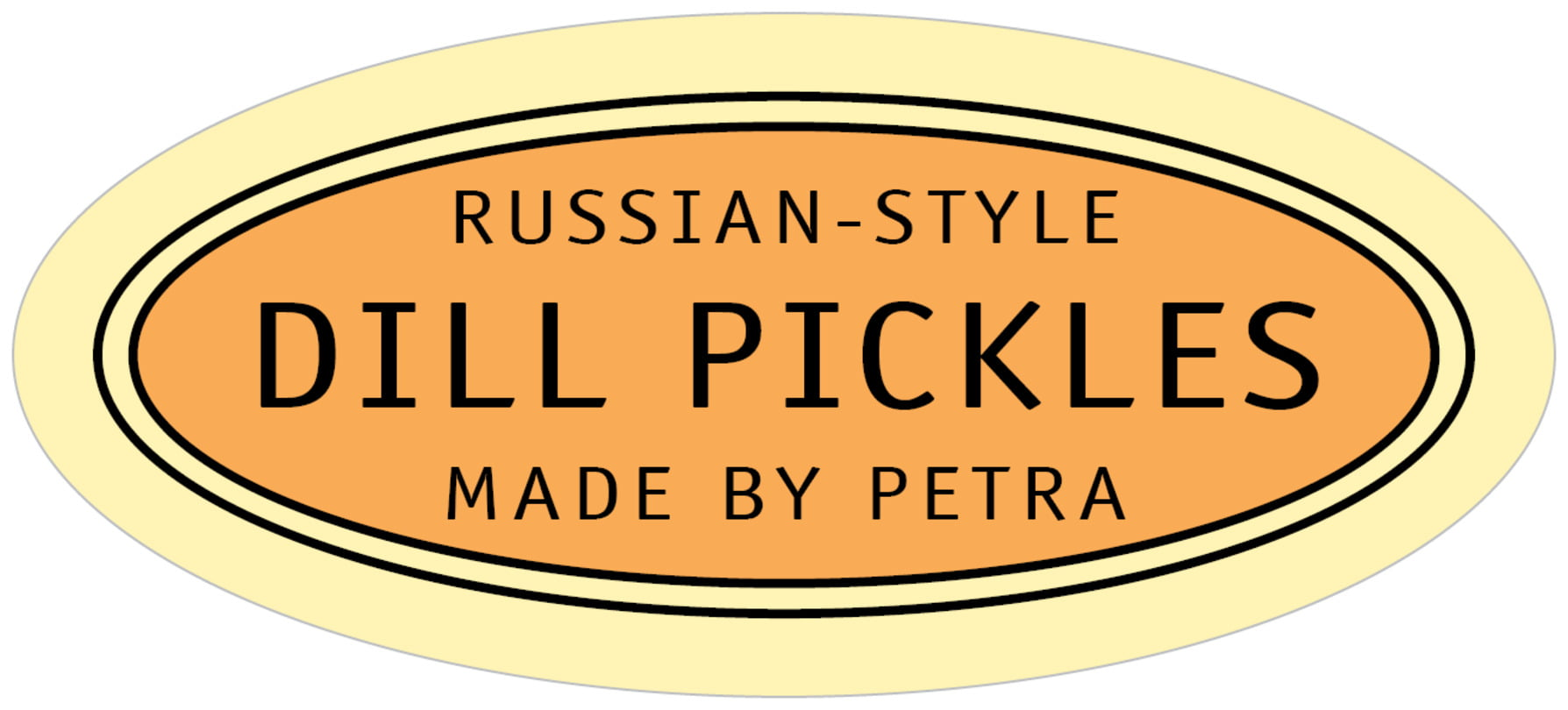 oval food/craft labels - melon - library (set of 30)