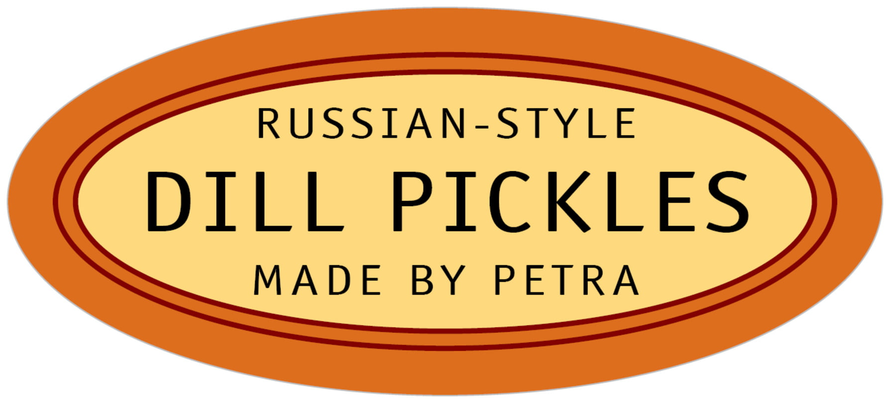 oval food/craft labels - spice - library (set of 30)