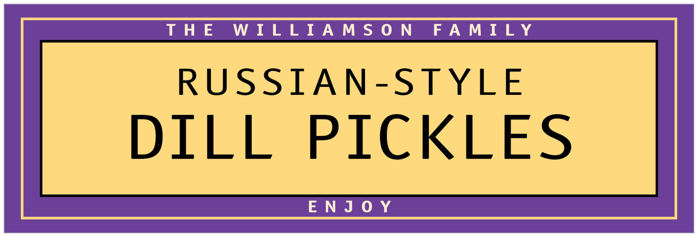 wide food/craft labels - purple - library (set of 14)