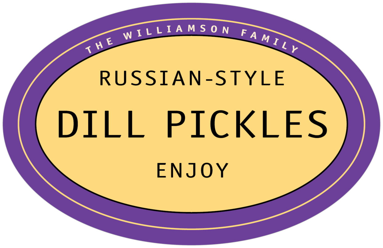 large wide oval food/craft labels - purple - library (set of 8)