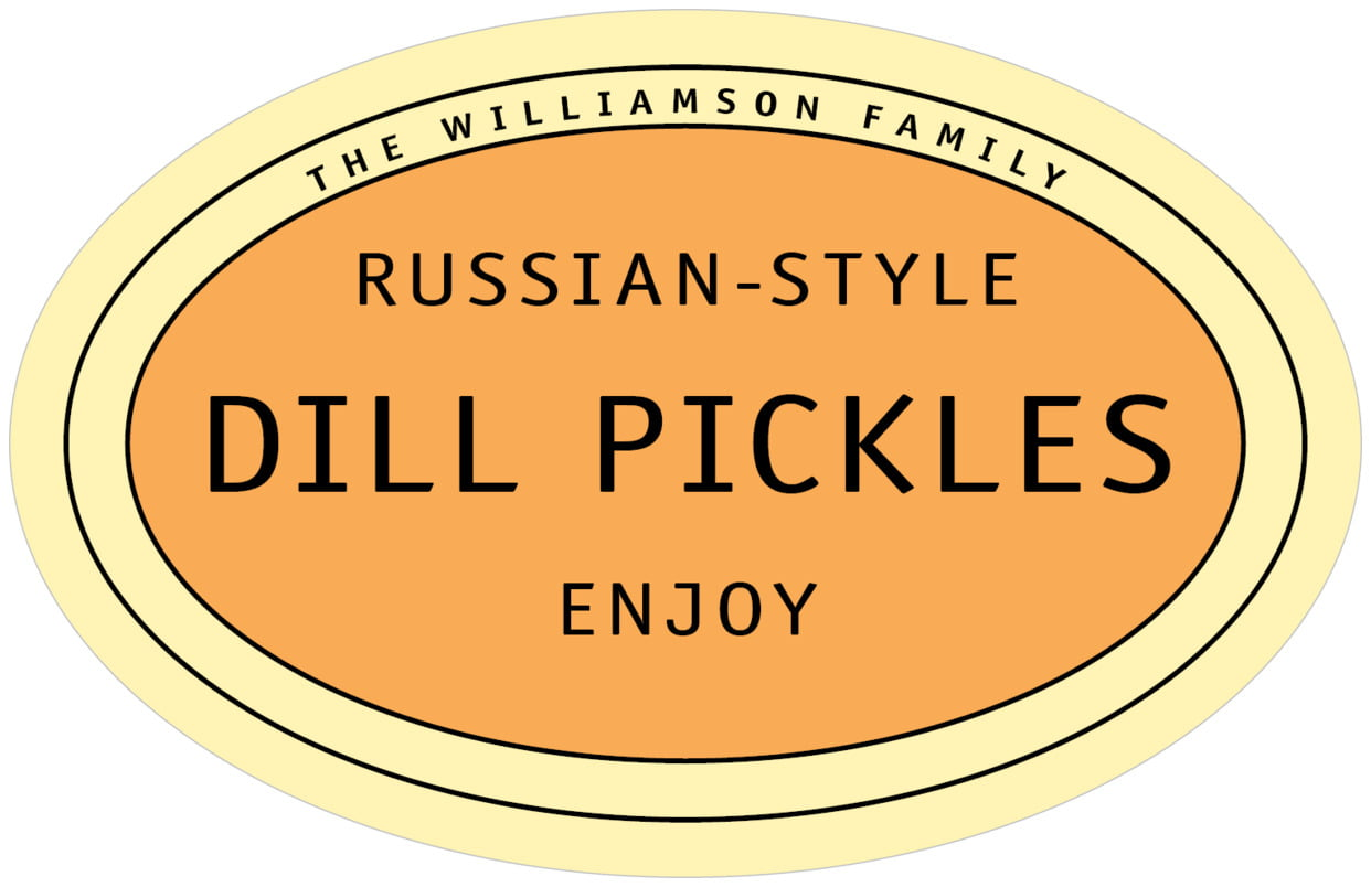 large wide oval food/craft labels - melon - library (set of 8)