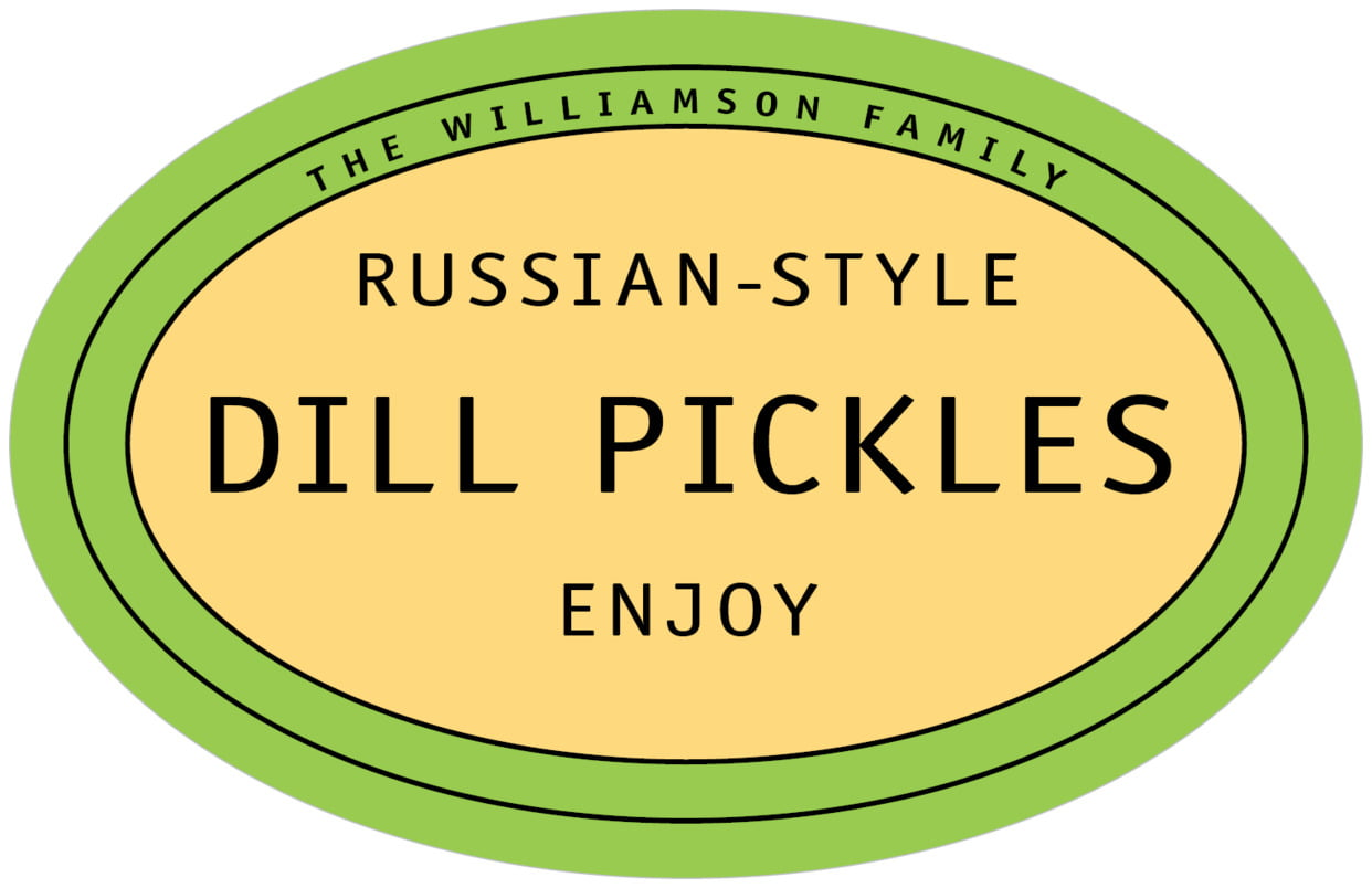 large wide oval food/craft labels - lime - library (set of 8)