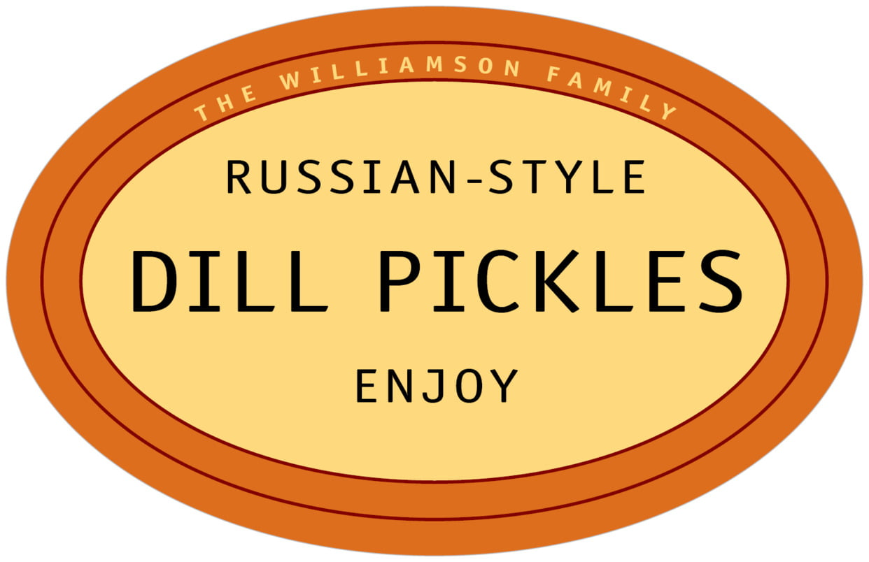 large wide oval food/craft labels - spice - library (set of 8)