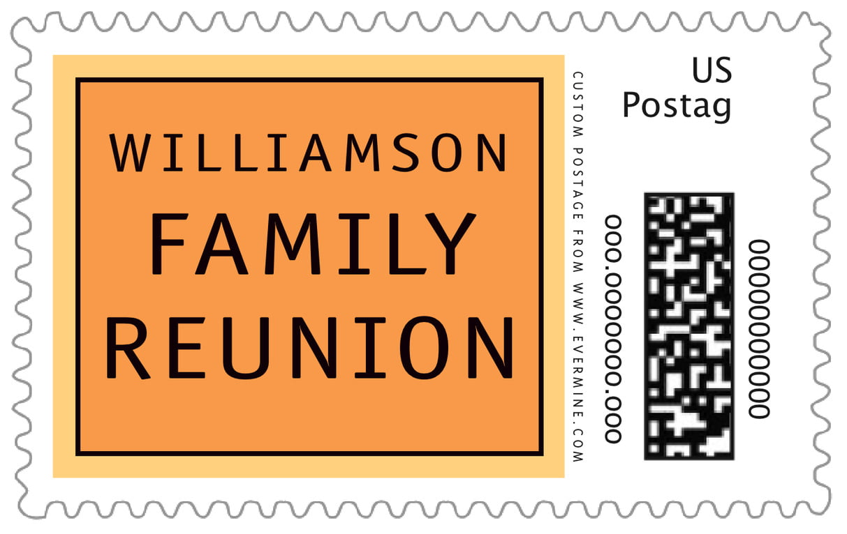 custom large postage stamps - melon - library (set of 20)