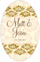 Leilani tall oval labels