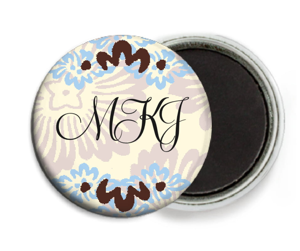 custom button magnets - powder blue & cocoa - leilani (set of 6)