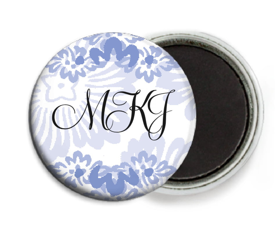 custom button magnets - periwinkle - leilani (set of 6)