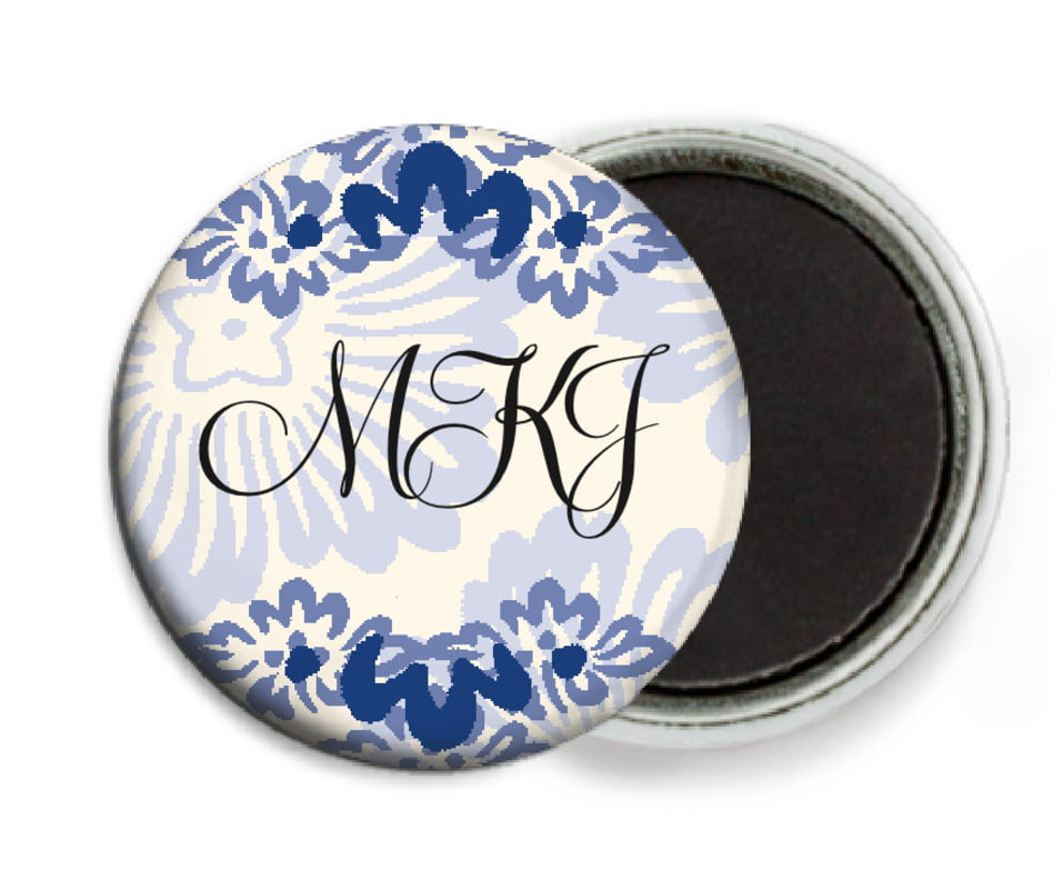 custom button magnets - deep blue - leilani (set of 6)