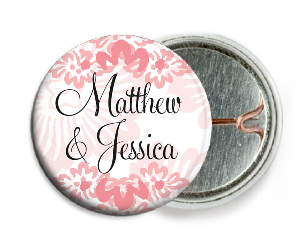 custom pin back buttons - grapefruit - leilani (set of 6)