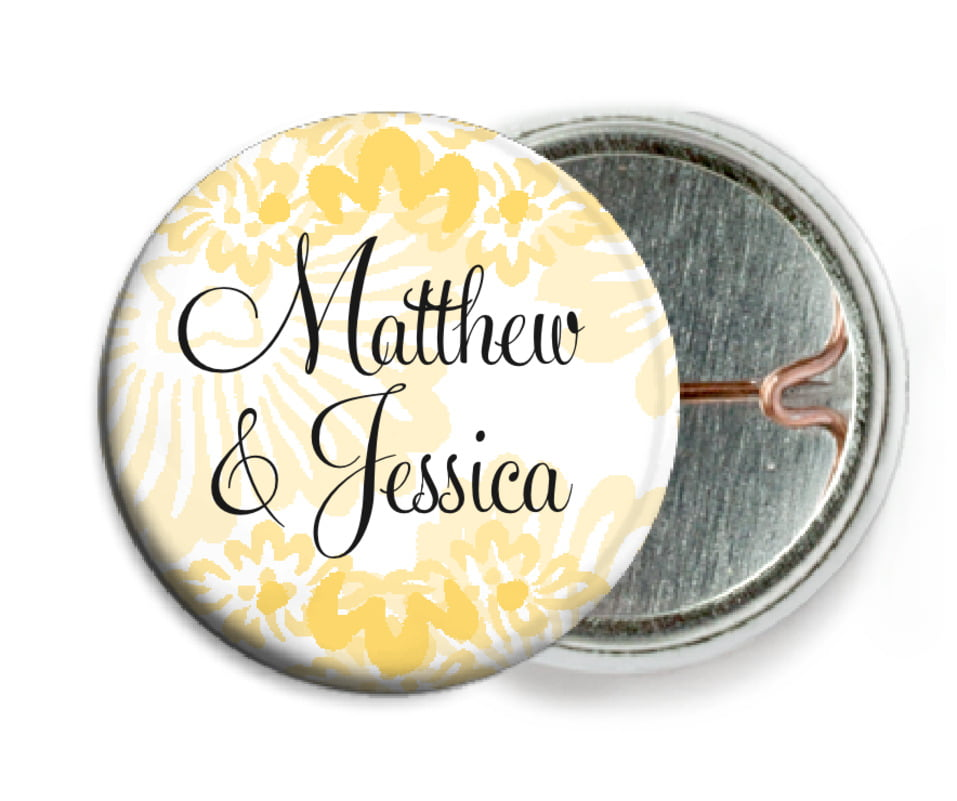 custom pin back buttons - sunburst - leilani (set of 6)