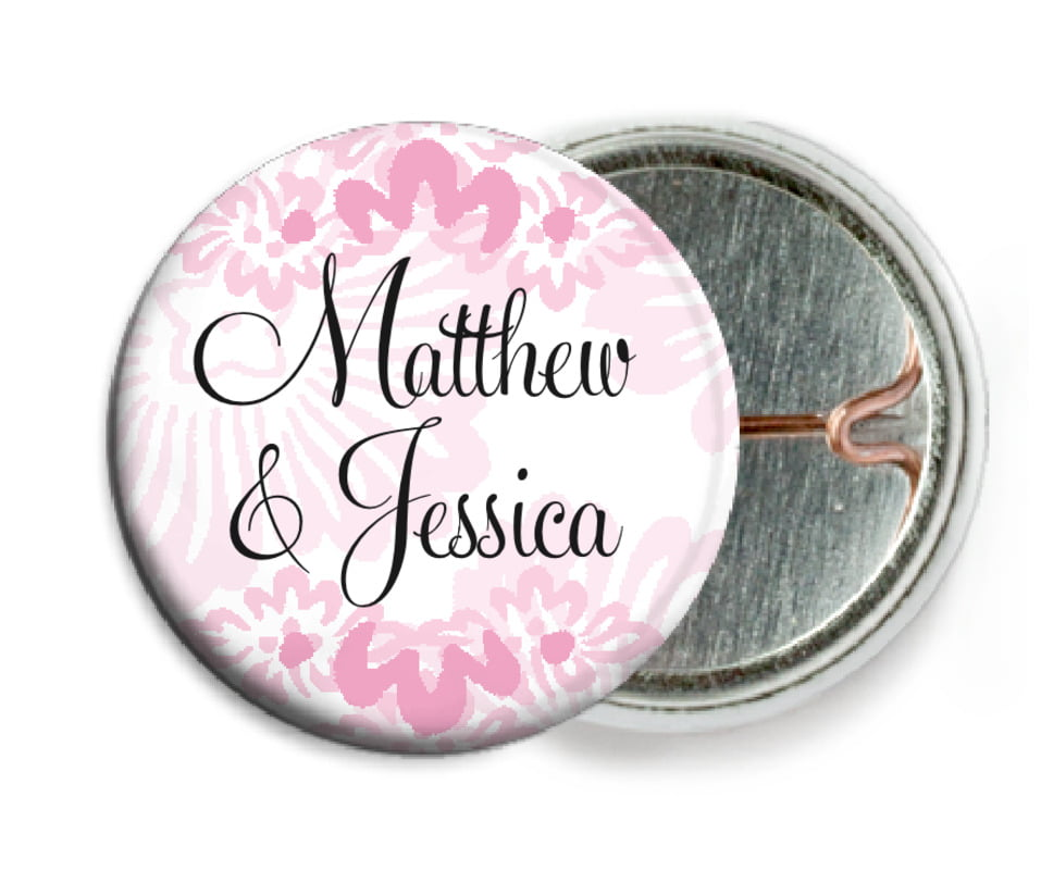 custom pin back buttons - pale pink - leilani (set of 6)