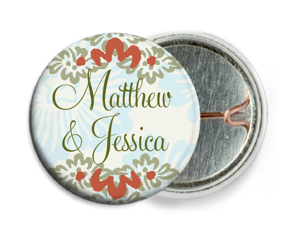 custom pin back buttons - spice & ocean - leilani (set of 6)