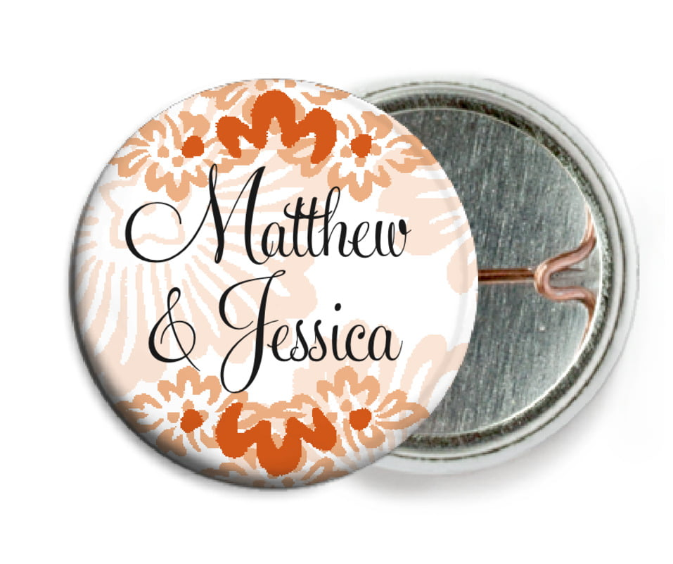 custom pin back buttons - spice - leilani (set of 6)