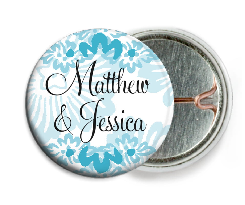 custom pin back buttons - sky - leilani (set of 6)