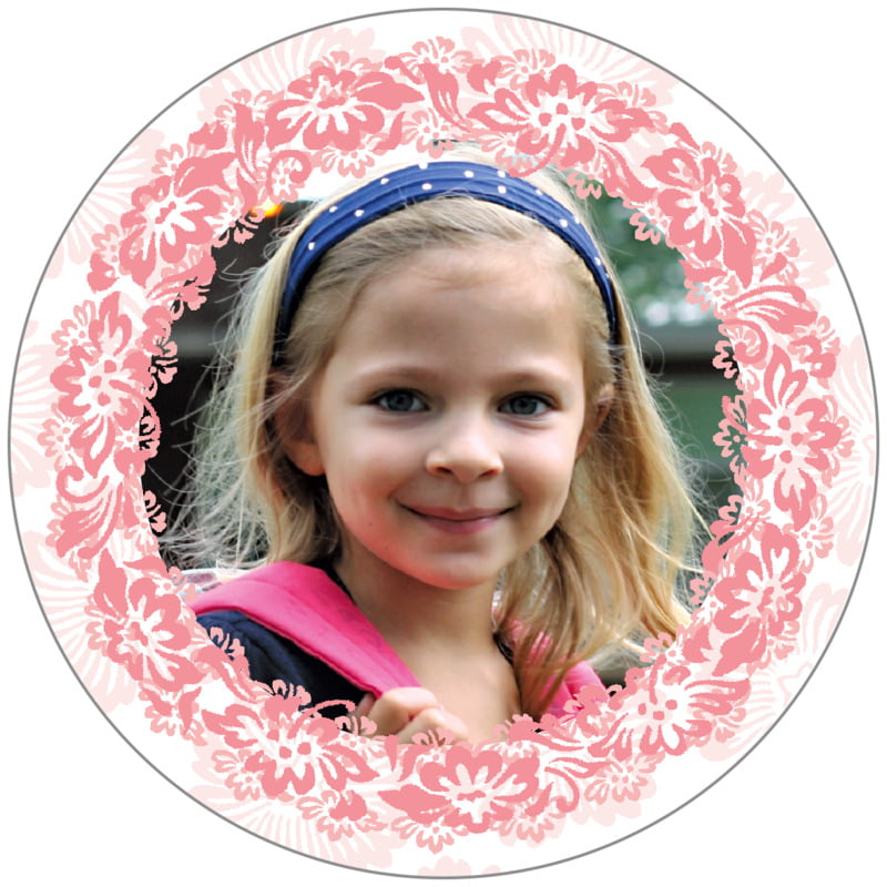 circle photo labels - grapefruit - leilani (set of 20)