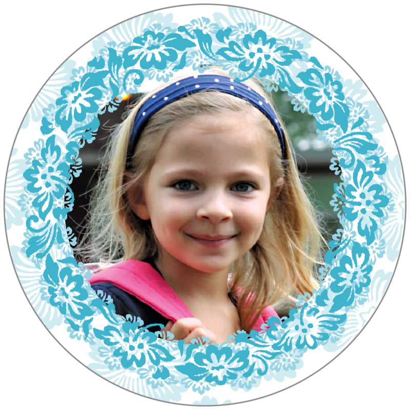circle photo labels - sky - leilani (set of 20)
