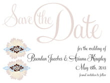 custom save-the-date cards - powder blue & cocoa - leilani (set of 10)