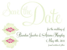 custom save-the-date cards - pink & island green - leilani (set of 10)