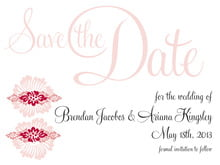 custom save-the-date cards - deep red - leilani (set of 10)