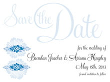 custom save-the-date cards - blue - leilani (set of 10)