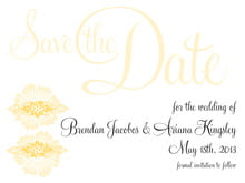 custom save-the-date cards - sunburst - leilani (set of 10)