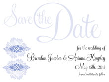 custom save-the-date cards - periwinkle - leilani (set of 10)