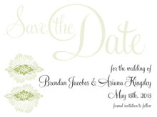custom save-the-date cards - green tea - leilani (set of 10)