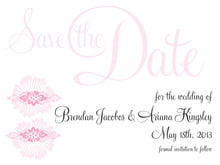 custom save-the-date cards - pale pink - leilani (set of 10)