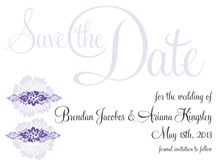 custom save-the-date cards - lilac - leilani (set of 10)