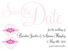 custom save-the-date cards - bright pink - leilani (set of 10)