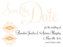 custom save-the-date cards - tangerine - leilani (set of 10)