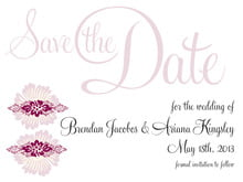 custom save-the-date cards - burgundy - leilani (set of 10)