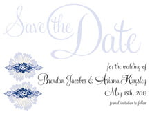 custom save-the-date cards - deep blue - leilani (set of 10)