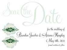 custom save-the-date cards - deep green - leilani (set of 10)