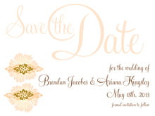 custom save-the-date cards - antique gold & sand - leilani (set of 10)