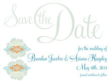 custom save-the-date cards - melon & bay - leilani (set of 10)