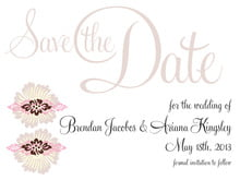 custom save-the-date cards - cocoa & pink - leilani (set of 10)