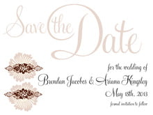 custom save-the-date cards - chocolate - leilani (set of 10)