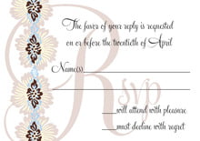 custom response cards - powder blue & cocoa - leilani (set of 10)