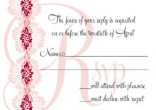 custom response cards - deep red - leilani (set of 10)